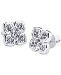 Charriol Le Fleur Sterling Silver Earring With White Topaz
