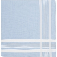 Simonnot Godard Stripe Border Handkerchief Multi