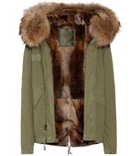Mr And Mrs Italy Fur Lined Cotton Coat Green