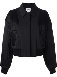 Dkny Quilted Reversible Bomber Jacket Black
