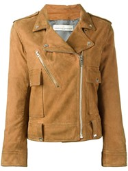 Golden Goose Deluxe Brand Classic Biker Jacket Brown