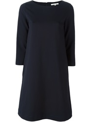 Hache 3 4 Sleeves Shift Dress Blue