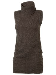 Fat Face Loughton Roll Neck Jumper Chocolate