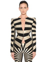 Gareth Pugh Single Breasted Graphic Jacquard Jacket