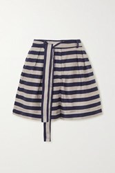 Rebecca Vallance Nautique Striped Woven Shorts Black
