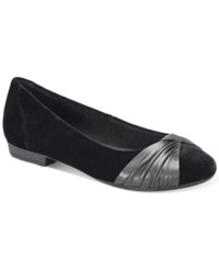 B.O.C. Henley Flats Women's Shoes Black Velvet