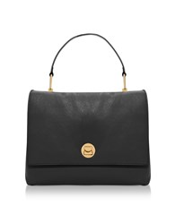 Coccinelle Handbags Grainy Leather Large Liya Satchel Bag