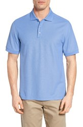 Nordstrom Men's Big And Tall Men's Shop Solid Pique Polo Blue Cornflower
