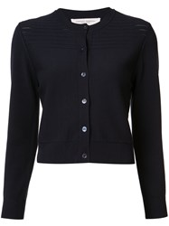 Carolina Herrera Cropped Cardigan Blue