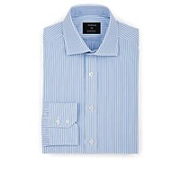 Fairfax Striped Cotton Poplin Dress Shirt Lt. Blue