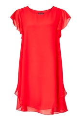 James Lakeland Ruffle Sleeve Dress Red