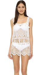 Eberjey Spearhead Johanna Romper Off White