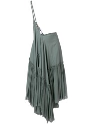 Hache Flared Maxi Skirt Grey