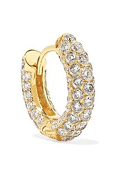 Maria Tash 8Mm 18 Karat Gold Diamond Hoop Earring