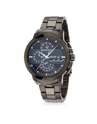 Maserati Ingegno Black Stainless Steel Men's Chrono Watch