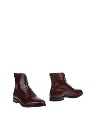 Fratelli Rossetti Ankle Boots Maroon