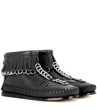 Alexander Wang Montana Leather Ankle Boots Black
