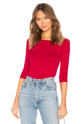 525 America Ballet Neck Sweater Red