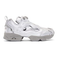 Vetements Grey Reebok Edition Reflective Instapump Fury Sneakers