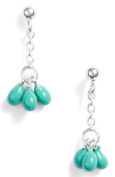 Argentovivo Argento Vivo Small Enamel Drop Earrings Turquoise