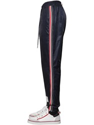 Thom Browne Ripstop Track Pants W Knit Stripe Navy