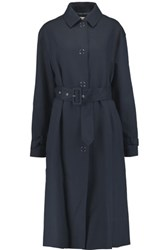 Acne Studios Aria Belted Twill Trench Coat Navy