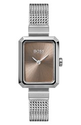 Boss Whisper Strap Watch 20Mm X 26Mm Silver Gold Silver