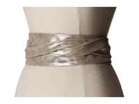 Ada Collection Obi Classic Wrap Silver Women's Belts