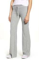 Wildfox Couture Corso Flared Thermal Sweatpants Heather