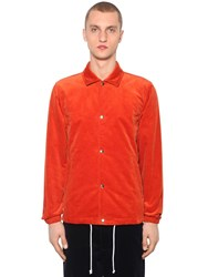 Comme Des Garcons Cotton Corduroy Shirt Jacket Orange