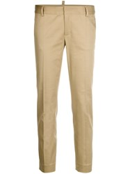 Dsquared2 Slim Fit Trousers Nude And Neutrals