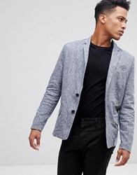 Only And Sons Chambray Blazer Dress Blues
