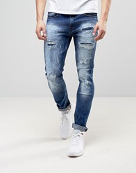 Loyalty And Faith Kaleb Stretch Skinny Jeans With Distressing Blue