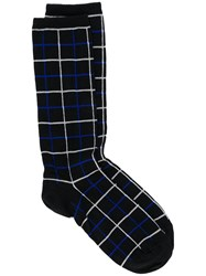 Haider Ackermann Grid Patterned Socks Black
