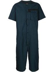 Christopher Raeburn Cropped Jumpsuit Blue
