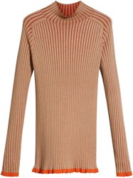 Burberry Silk Cashmere Turtleneck Sweater Brown