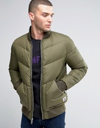Penfield Vanleer Down Quilted Bomber Olive Green