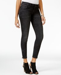 Guess Marilyn Black Wash Zip Detail Skinny Jeans Washed Black