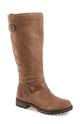 Women's Naturalizer 'Tanita' Boot Taupe Suede Wide Calf