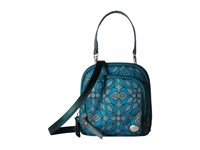 Haiku Pouch Sea Blue Geo Print Cross Body Handbags