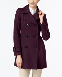 Anne Klein Long Peacoat Only At Macy's Merlot