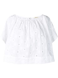 Bellerose Cropped Loose Fit Blouse White