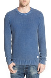 Bellfield 'Romeo' Marled Crewneck Sweater Denim Blue