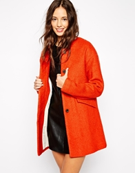 Pull And Bear Pullandbear Dolly Swing Coat Orange