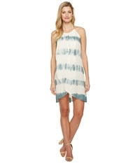 Culture Phit Adora Overwrap Tie Dye Dress Ivory Sage Women's Dress White