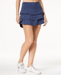 Ideology Tiered Skort Created For Macy's Navy Serenity