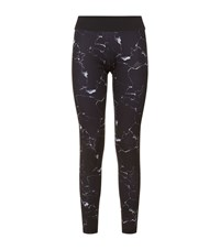 Adidas Marble Print Ultimate Long Tights Female Black