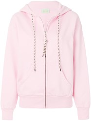 Aries Logo Print Zip Up Hoodie Pink And Purple