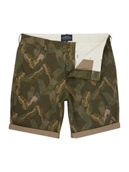 Criminal Banana Leaf Printed Shorts Khaki
