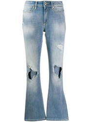 Dondup Ripped Flared Jeans Blue
